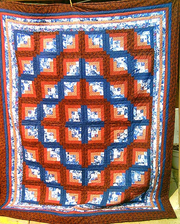 Dirty Sally's Ten Sleep Wyoming Hand made Wyoming Crafts ... : blue and orange quilt - Adamdwight.com